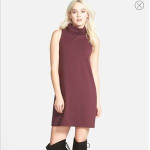 Leith turtleneck dress in Plum - Small